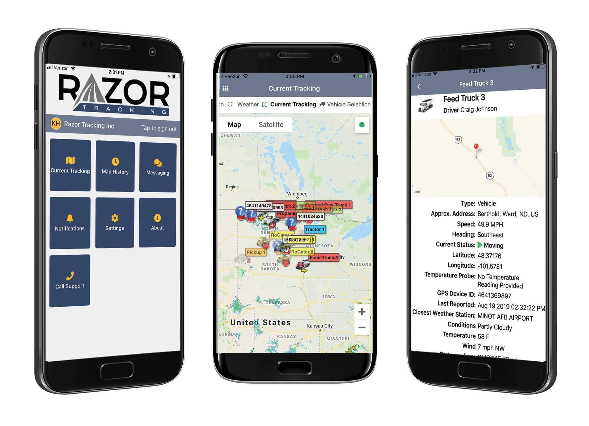 Razor Tracking Mobile Display